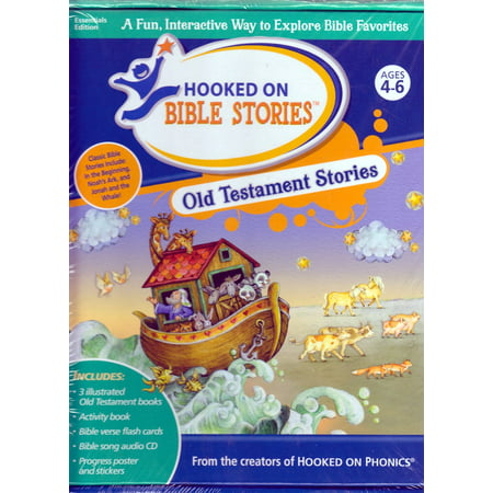 Hooked on Phonics Bible Stories OLD TESTAMENT, Activity Book, Flash  Cards,Audio CD