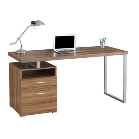 "Atlin Designs 60"" Metal Home Office Desk in Walnut - image 1 de 2"
