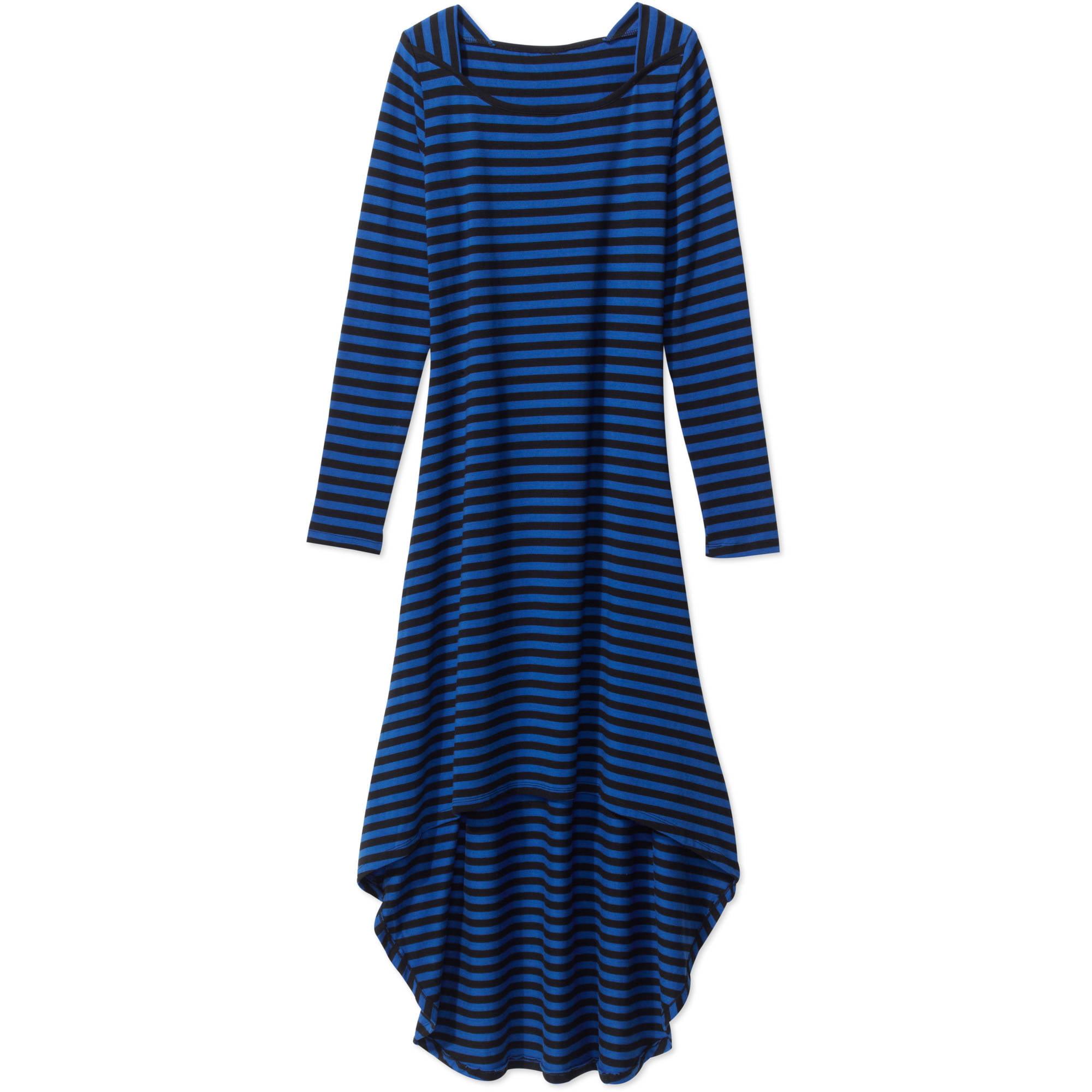 Women's Long Sleeve Asymmetrical Maxi Dress