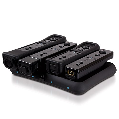 Dreamgear DG-DGWII-3116 Wii Power Base Quad- Black -
