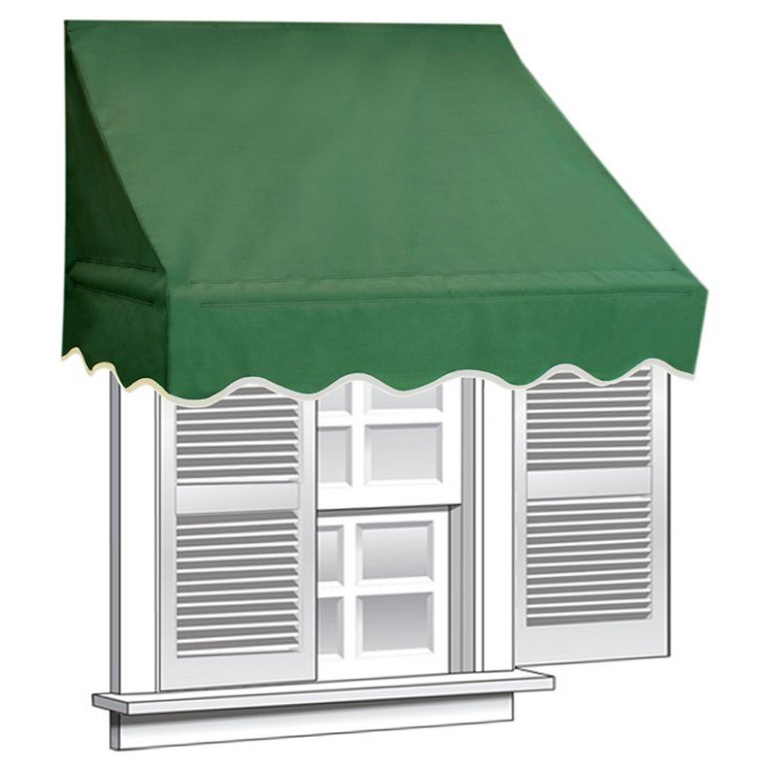 ALEKO 8' x 2' Window Awning Door Canopy (16 sq. ft Coverage), Green Color