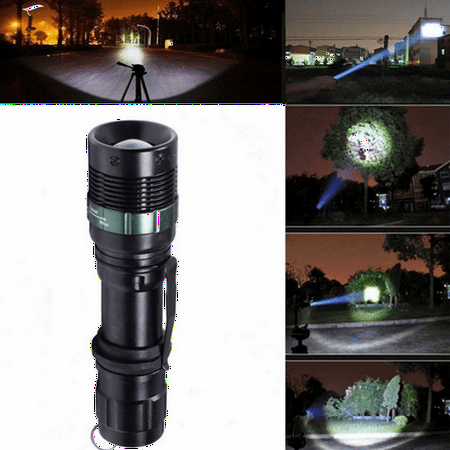 Elfeland 2000LM T6 LED Sports & Outdoors Zoomable Flashlight Torch Super Bright Lamp Light 3-Mode