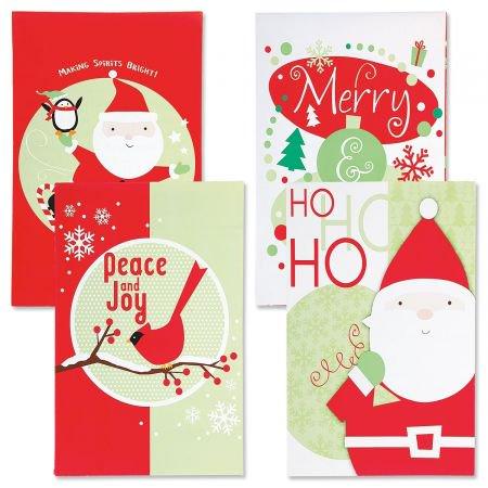 Christmas T-Shirt Gift Box- Set of 12 Holiday Print Gift Boxes