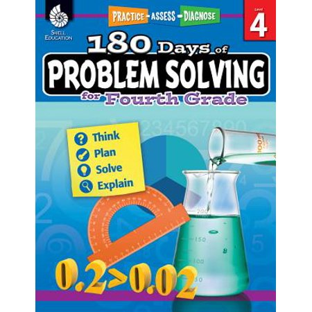 180 Days of Problem Solving for Fourth Grade (Grade 4) : Practice, Assess, Diagnose - Halloween Color By Number 4th Grade