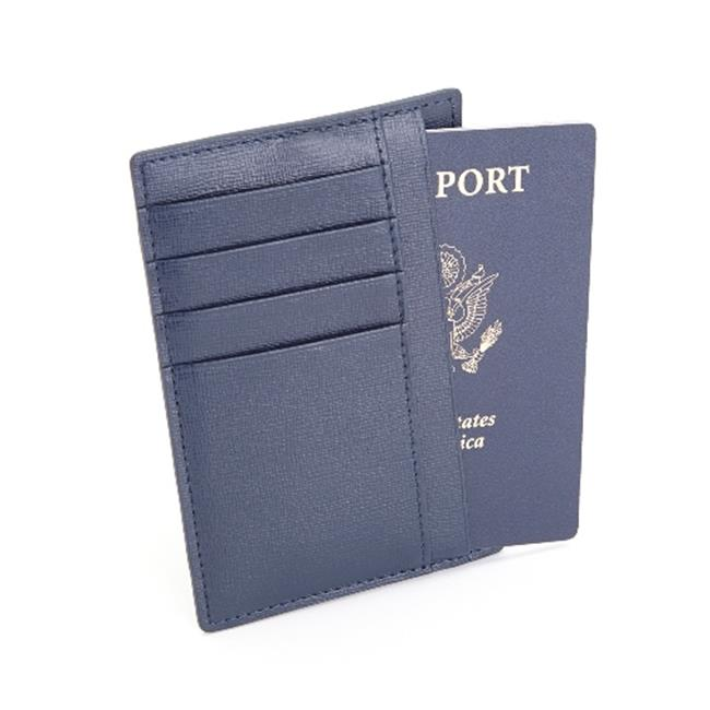 Royce Leather RFID Blocking Slim Travel Passport Wallet in Saffiano Genuine Leather - image 5 of 5