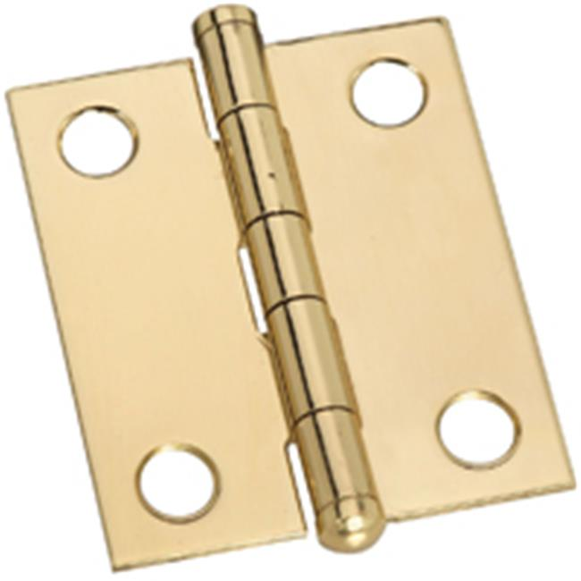 Stanley Hardware 803270 Solid Brass Button Hinge - 1.5 In. - image 1 of 1