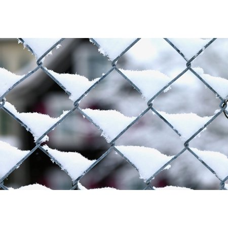 Framed Art for Your Wall Winter Snow Wire Mesh Pattern 10x13 Frame