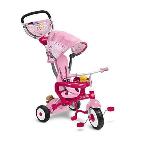 Radio Flyer 445P EZ Fold Stroll N Trike, Pink