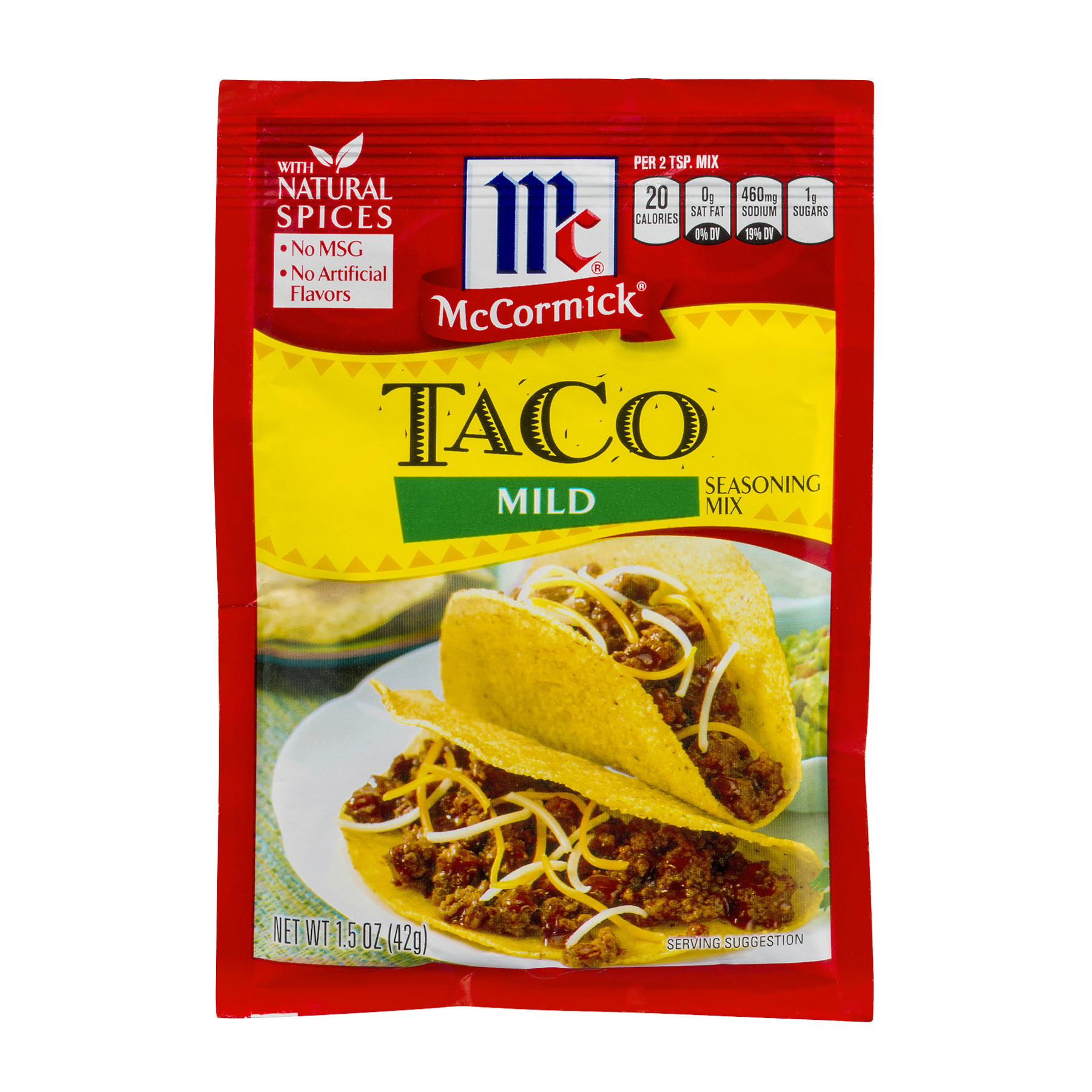 McCormick Taco Mild Seasoning Mix, 1.5 OZ
