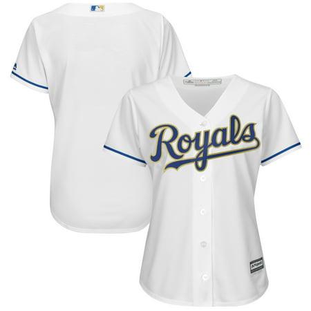 - Kansas City Royals Majestic Women's 2017 Home Cool Base Replica Team Jersey - White