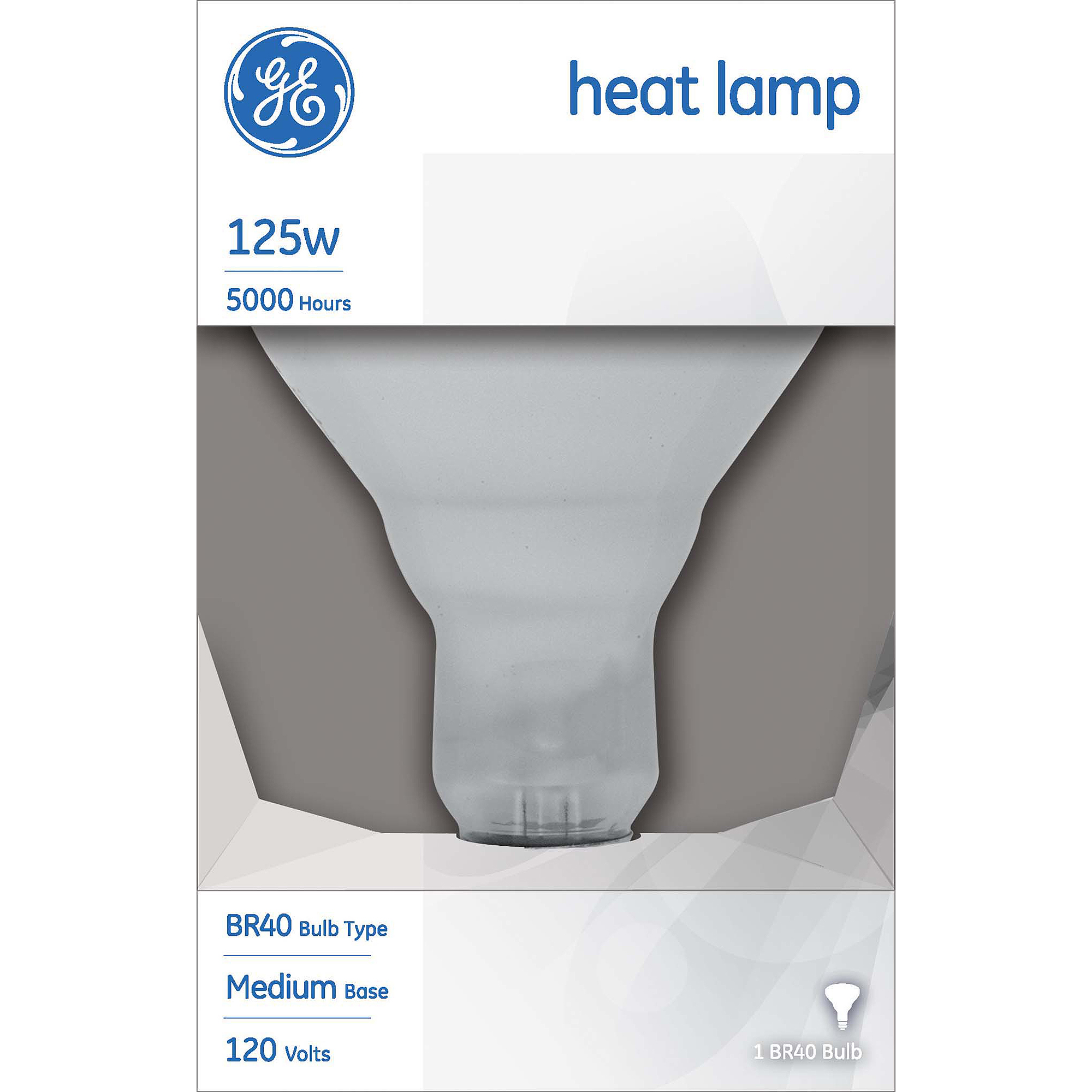 GE 125 watt Incandescent R40 Heat Lamp Flood, 1 Pack