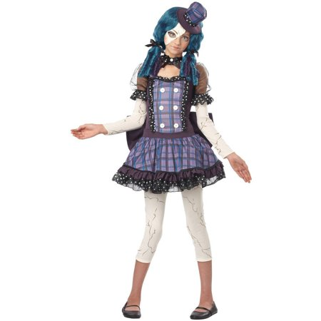 Broken Doll Teen Halloween Costume](Broken Doll Halloween Mask)