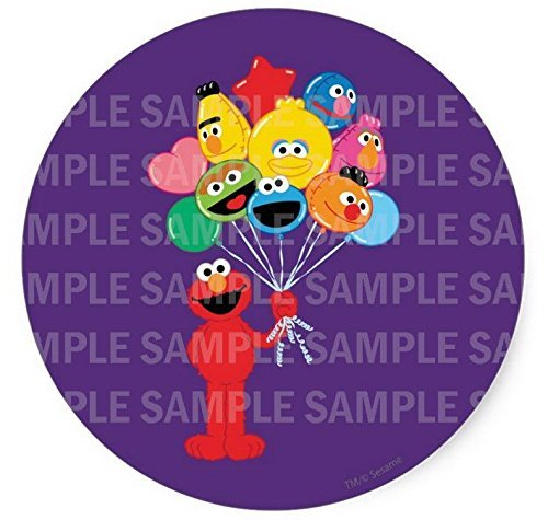 Sesame Street Elmo Balloons Birthday Edible Image Photo 8