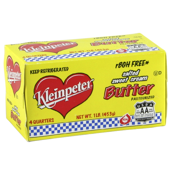 Kleinpeter Butter One Pound Quarters