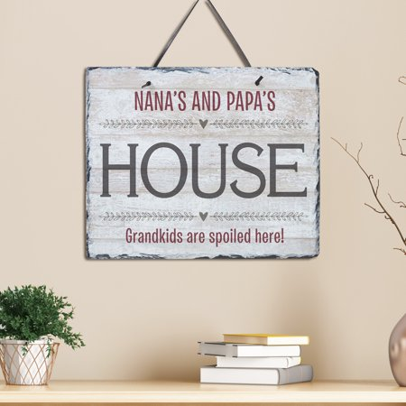 Personalized Grandparents House Slate ()