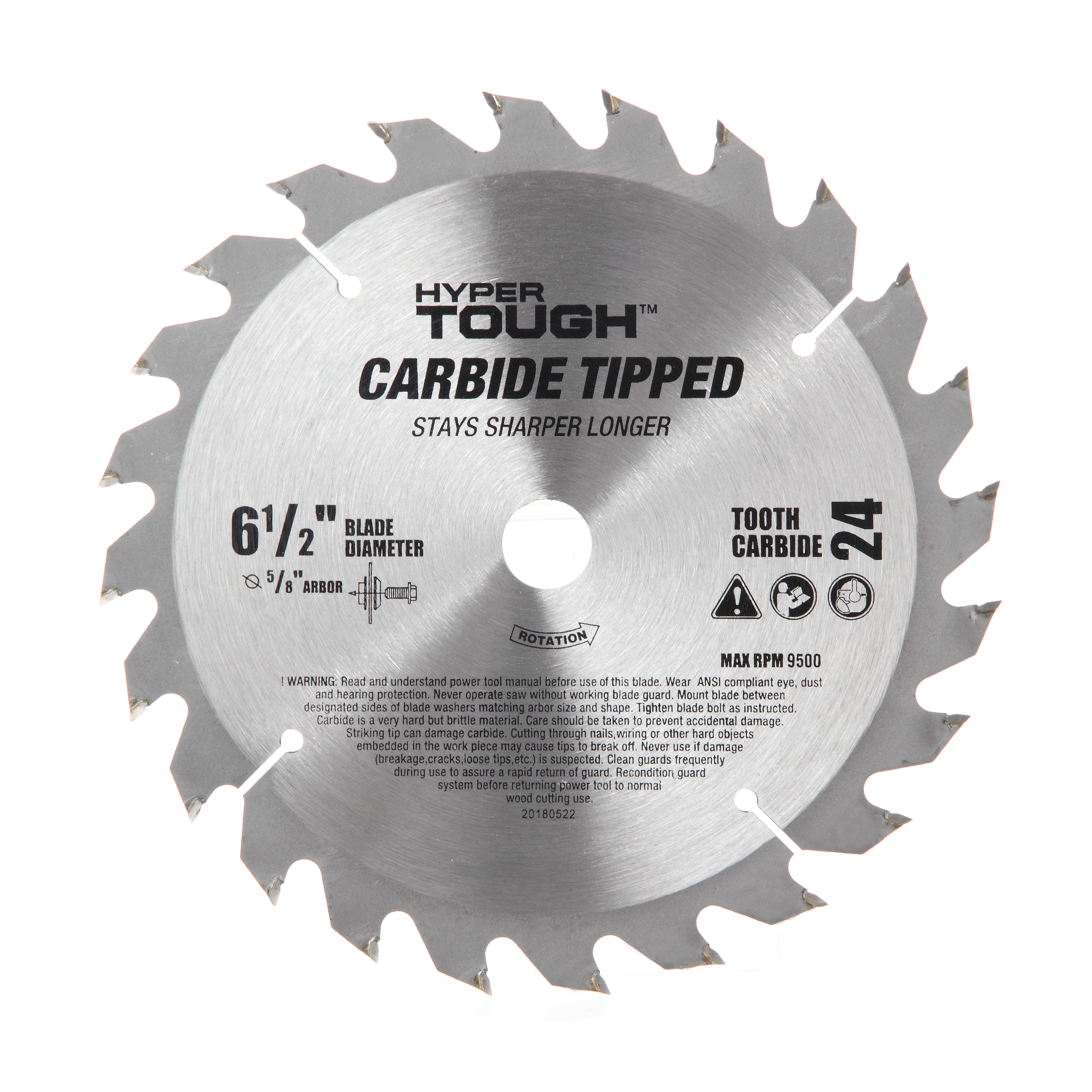 Hyper Tough AU30012J 6-1/2-Inch Carbide Tipped Circular Saw Blade