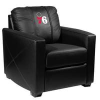 Philadelphia 76ers NBA Silver Chair with Primary Logo Panel