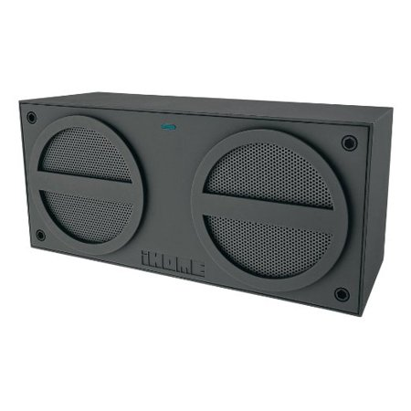 iHome iBN24GC Bluetooth Rechargeable Stereo Mini Speaker - Grey