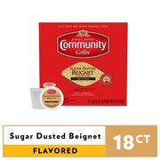 Community Coffee Sugar Dusted Beigned Flavored Single Serve Coffee Pods, 18 Count - Compatible with Keurig 2.0 K-Cup Brewers