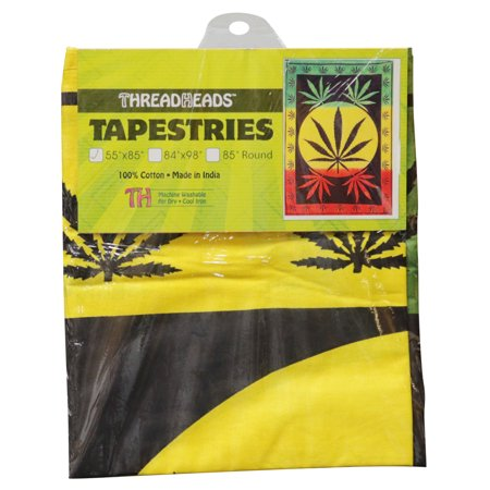 Rasta Hemp - ThreadHeads Rasta Hemp Leaf Tapestry - 55
