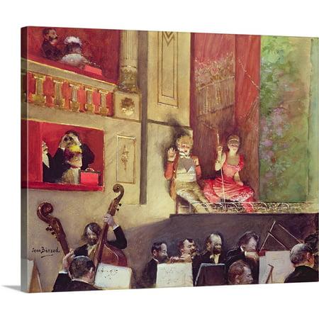 Canvas Jean (Great BIG Canvas | Jean (1849-1935) Beraud Premium Thick-Wrap Canvas entitled Cafe Concert )