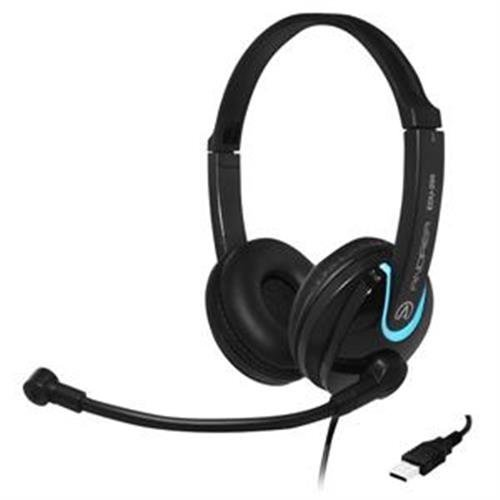 Andrea Edu-255 Usb On-ear Stereo Headset - Stereo - Usb - Wired - 32 Ohm - 50 Hz - 20 Khz - Over-the-head - Binaural - Circumaural - 8 Ft Cable (c1-1030200-1)