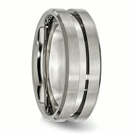 Titanium Grooved 8mm Brushed Wedding Ring Band Size 12.00 Fashion Jewelry Gifts For Women For Her - image 5 of 10