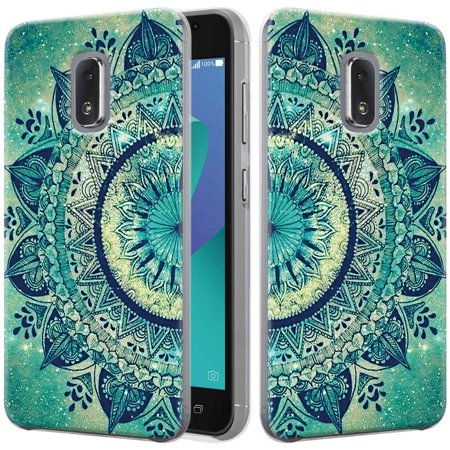 "Asus Zenfone V Live Case, HJ Wireless Slim Air Armor Thin Fit Silicone Gel Soft TPU Bumper Durable Flex and Easy Grip Protective Case for Asus ZenFone V Live V500KL (5.0"") (Floral Totem) Floral Totem"