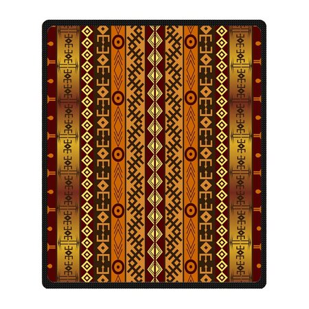 African Blanket (CADecor Africa Blanket Fleece Throw Blanket for Sofa or Bed 58x80)