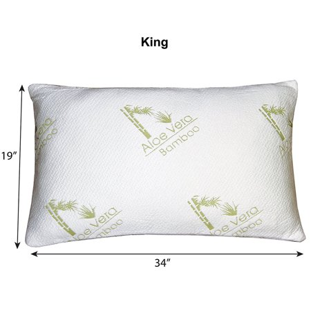 hypoallergenic aloe vera bamboo memory foam pillow cooling firm contour comfort. Black Bedroom Furniture Sets. Home Design Ideas