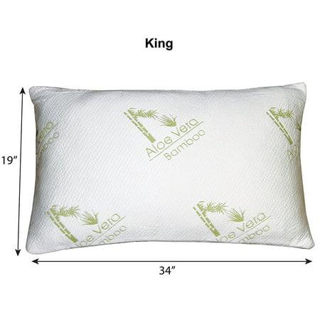Hypoallergenic Aloe Vera Bamboo Memory Foam Pillow Cooling