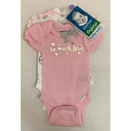 Gerber Infant Girl's Onesie, 3 Pack