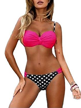 b800368c0b23a Product Image SAYFUT Women s Two Piece Elegant Bikini Set Bandeau Top Scoop  Bottom Swimsuits Bathing Suits Swimwear