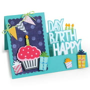 Sizzix Framelits Dies By Stephanie Barnard, 20pk, Step-Ups Happy Birthday