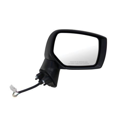 - 71525U - Fit System Passenger Side Mirror for 15-17 Subaru Outback/ Legacy, textured black w/ PTM cover, foldaway, w/o blind spot detection, w/o chrome trim level, Heated Power
