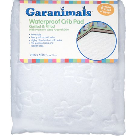 Garanimals Quilted Waterproof Fitted Crib Pad Walmart Com