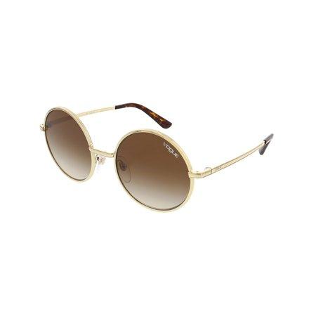 Vogue Women's Gradient Gigi Hadid VO4085S-848/13-50 Gold Round (Vogue Optical Sunglasses)