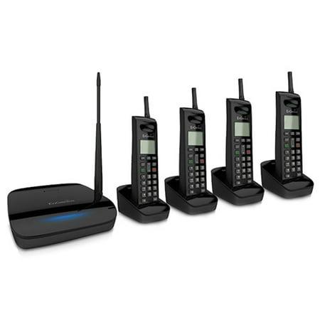Engenius Cordless Telephone - Engenius FreeStyl 2 (4 Handset) Extreme Range Scalable Cordless Phone System