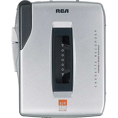 RCA RP3536 Handheld Cassette Recorder 5 Button Silver