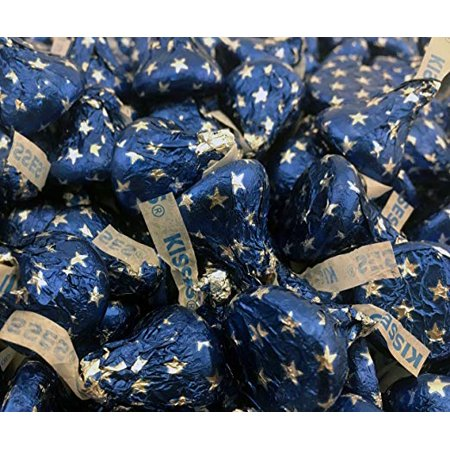 Milk Chocolate, Blue Star Foils, Hershey's Kisses, 2 pounds bag - Hershey Kisses Halloween Recipes
