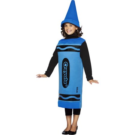 Crayola Blue Child Halloween Costume - One - Halloween For Work