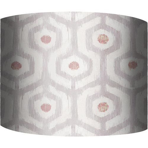"12"" Drum Lamp Shade, Ikat Rose"