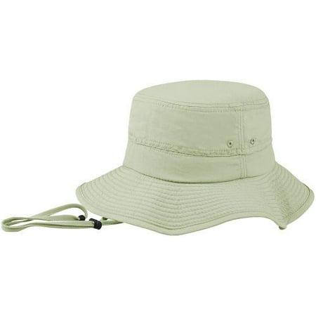 Mega Bucket (Mega Cap 220975 Peak Bucket Hat Khaki Small- Medium, Pack of 1 )