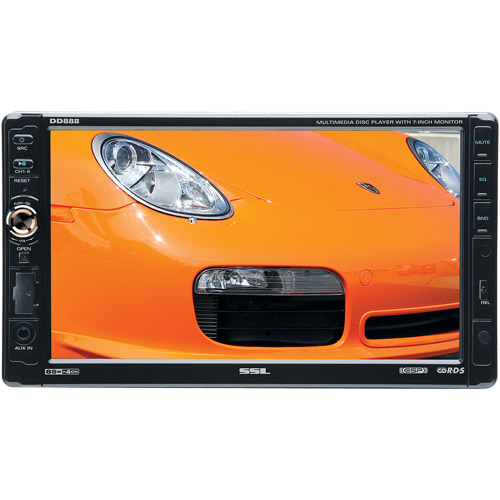 "SSL In-Dash Double DIN Multimedia Player with Detachable 7"" Touchscreen Monitor  #DD888"
