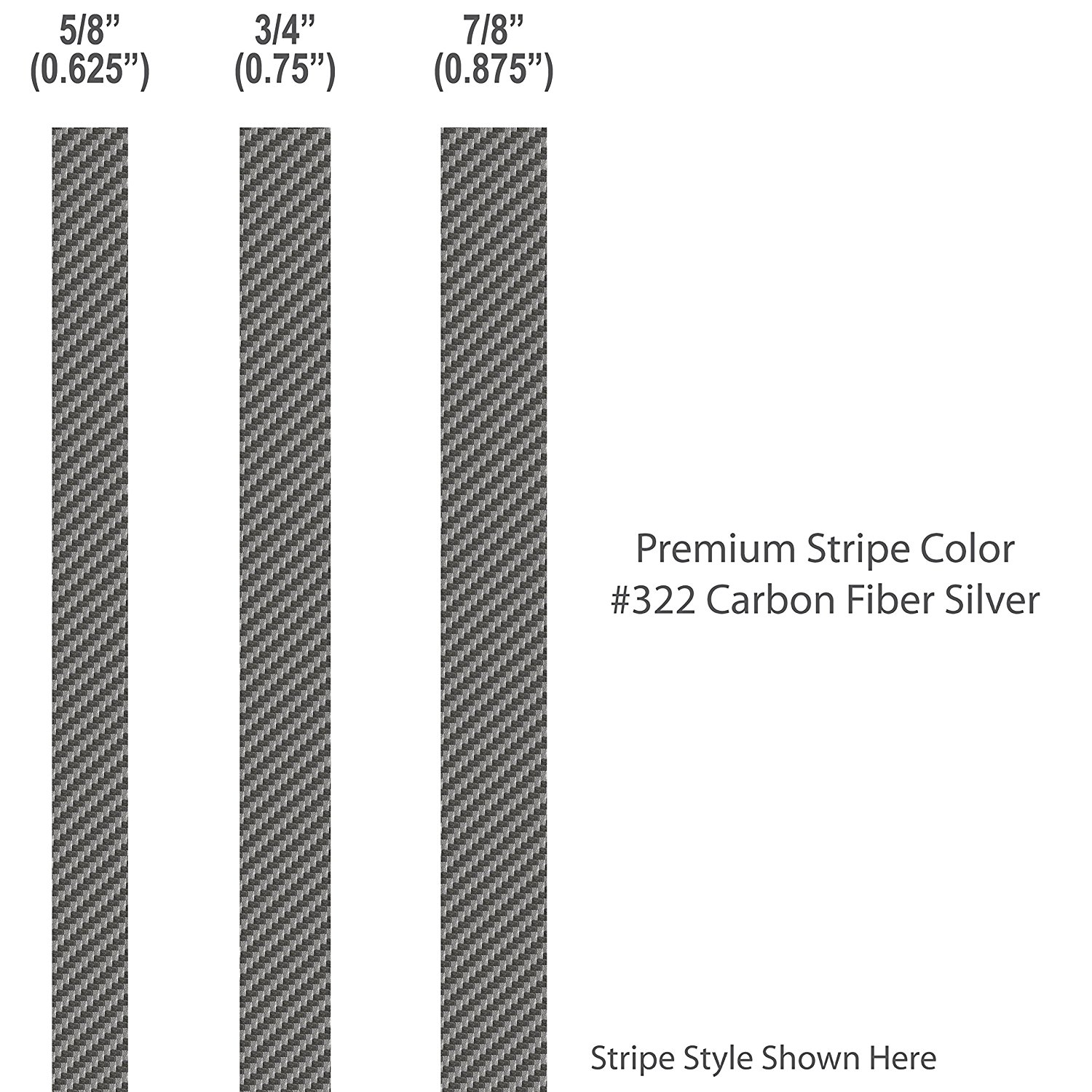 5 8� inch wide Pinstripes.   CARBON FIBER SILVER   Premium 3M Vinyl   car truck auto vehicle motorcycle... by 1060 Graphics