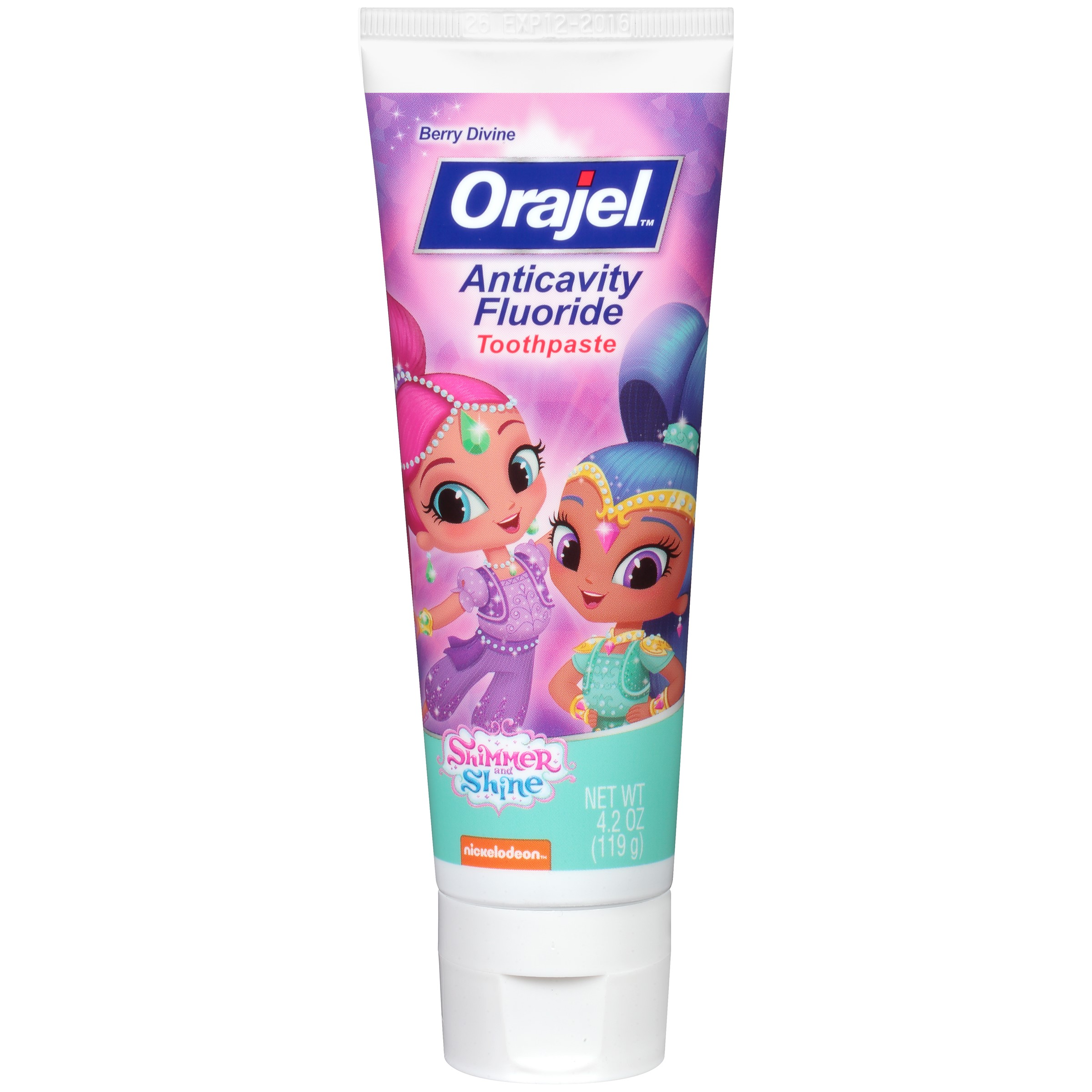 Orajel Shimmer and Shine Anticavity Fluoride Toothpaste, 4.2 oz.