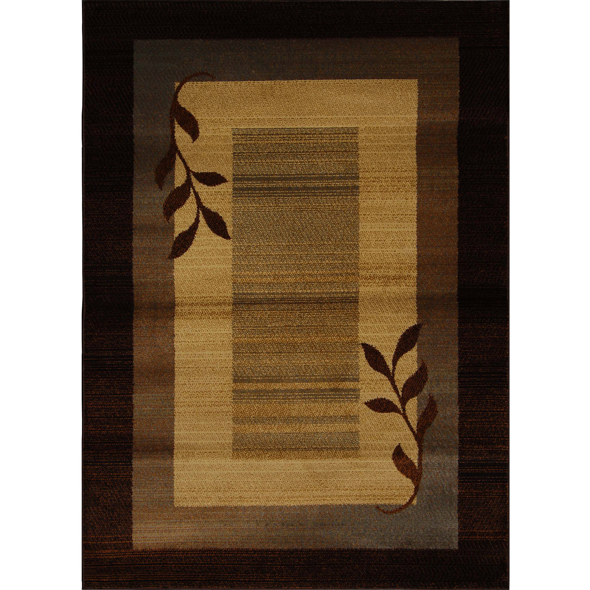 Home Dynamix Royalty Collection HD602J-530 Brown Blue Area Rug