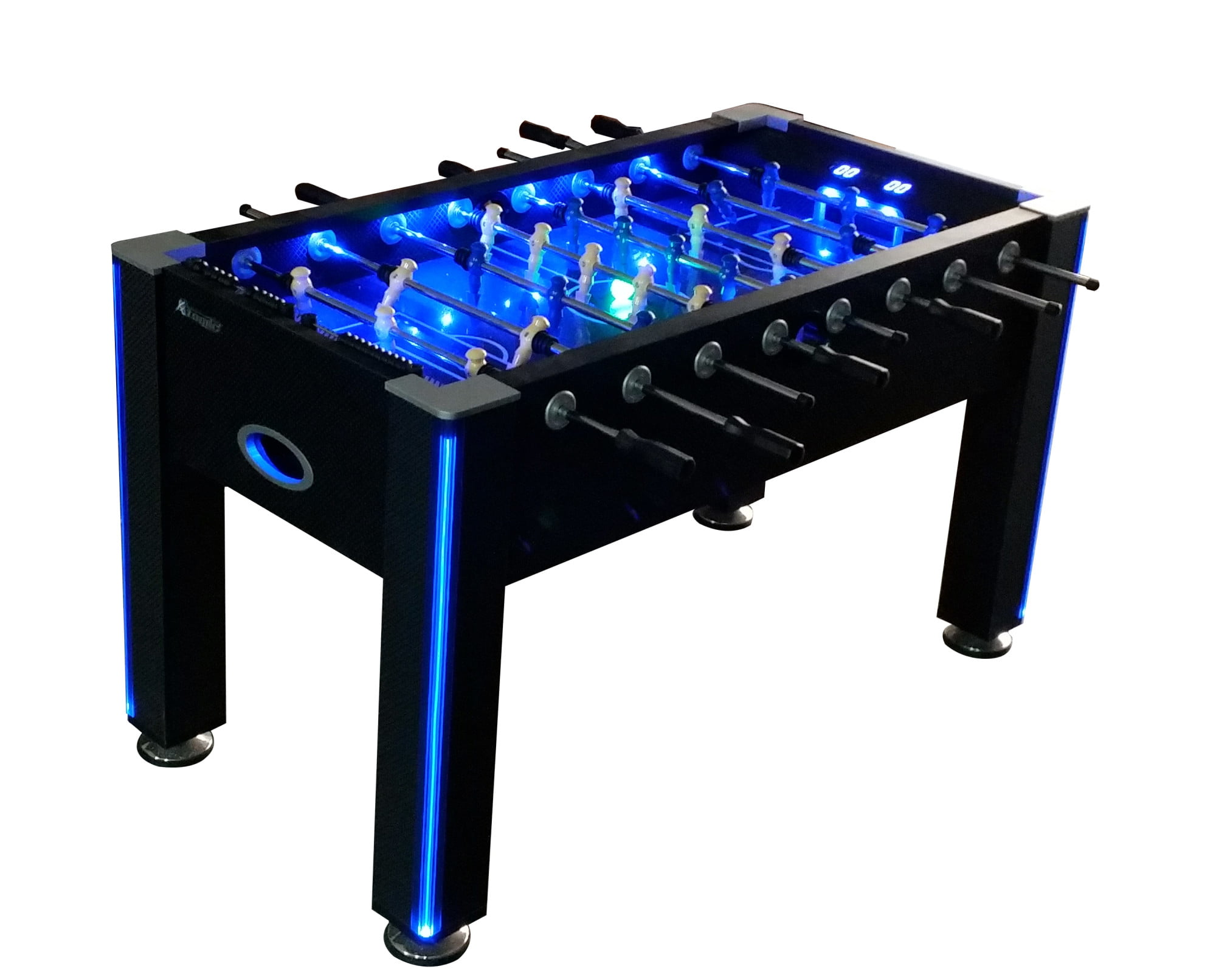 Atomic Azure Led Light Up Foosball Table With Interactive