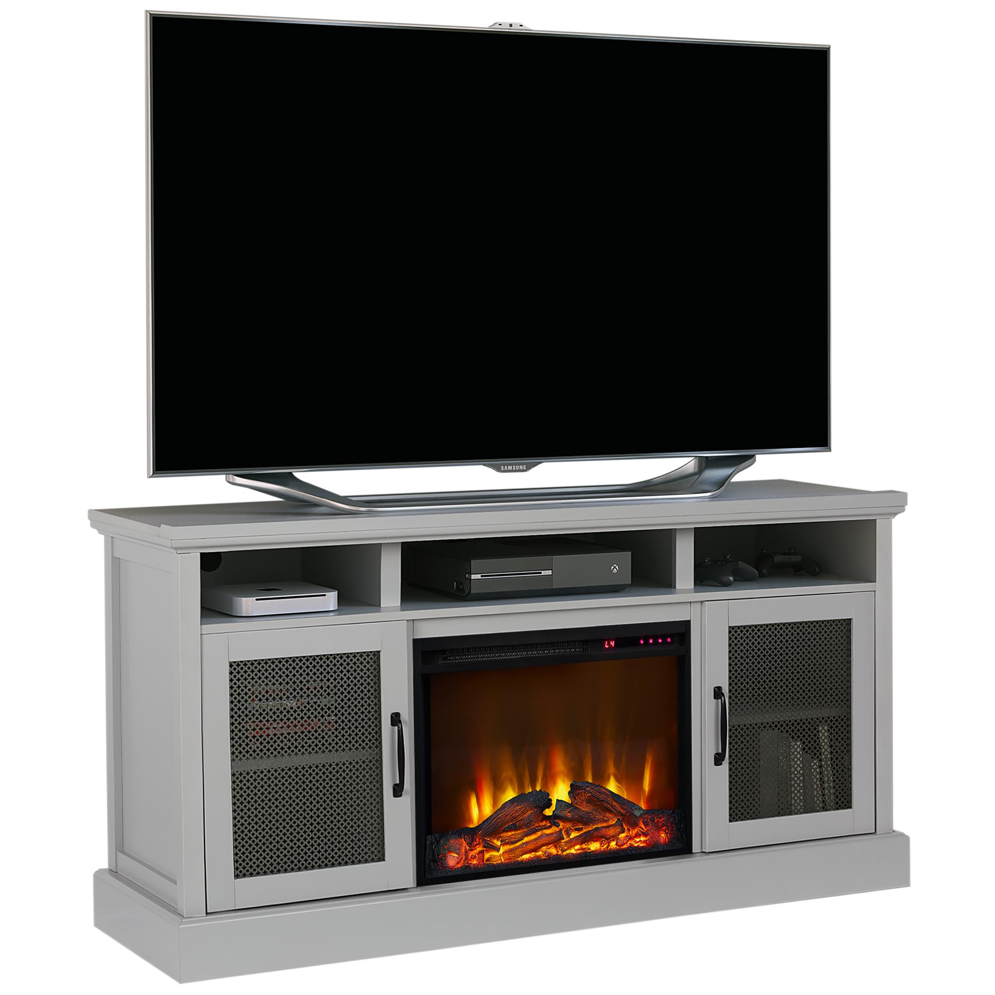 Ameriwood Home Mannington Tv Stand With Fireplace For Tvs Up To 65