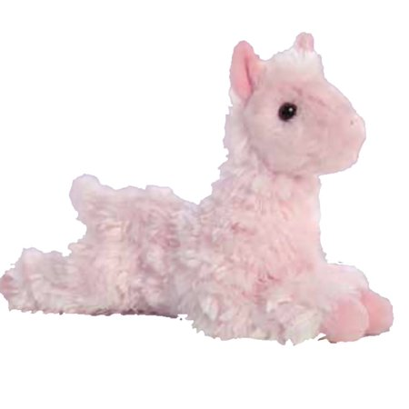 Llama Mini Flopsie Pink 8 inch - Stuffed Animal by Aurora Plush (31754) - Llama Stuffed Animal